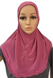 Image 4 - מוסלמי נשים ילדה עמירה ציצית צעיף חיג אב לעטוף ראש כיסוי מלא כובע צעיף אסלאמי ערבי צוואר כיסוי תפילת כובע טורבן מטפחת חדש