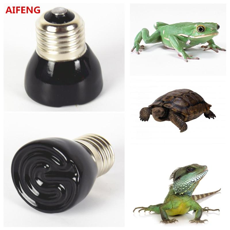 AIFENG E27 25W 50W 75W 100W Mini Infrared Ceramic <font><b>Emitter</b></font> Heat Light Lamp Bulb 220V 230V 240V tortoise For Reptile Pet Brooder
