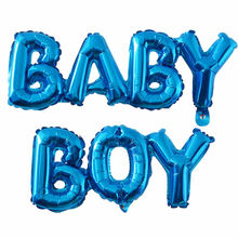 60*30cm Baby Shower Gold Foil Balloons Its a Boy Girl Baby Shower Gender Reveal Party Decorations Supplies(China)
