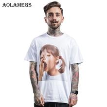 Aolamegs T Shirt Men Yawn Girl Printed Men's Tee Sh