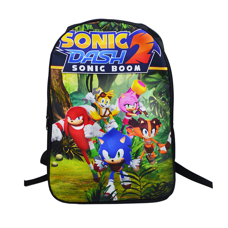 Sonic Super Mario Printing Backpack School Bags Teens Boys Girls School Bag Womens Mens Laptop Backpacks Kids School Backpacks