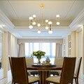 6 головок  скандинавские креативные  выразительные  художественные  золотые  светодиодные подвесные светильники для кафе  ресторанов  гости...