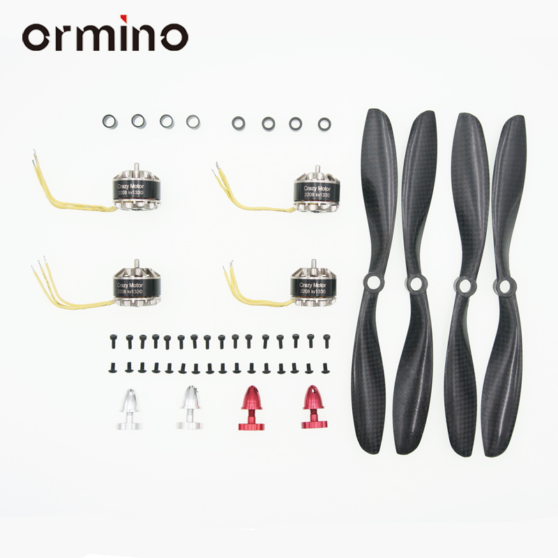 Ormino 1set 2208 kv1330 Brushless Motor CW CCW 8045 Carbon Fiber Propeller RC FPV Drone Kit DIY high quality Quadcopter Parts 4set lot universal rc quadcopter part kit 1045 propeller 1pair hp 30a brushless esc a2212 1000kv outrunner brushless motor