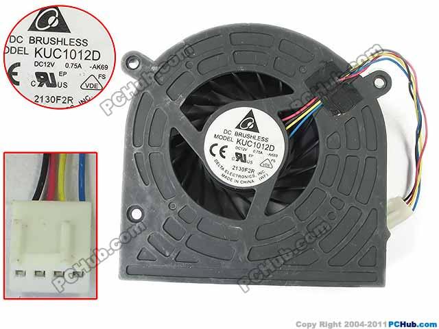 Delta Electronics KUC1012D -AK69 Server Cooling Fan DC 12V 0.75A 4-wire delta 12038 car booster fan violence server pfr1212dhe 12v 5 2a 12cm fan