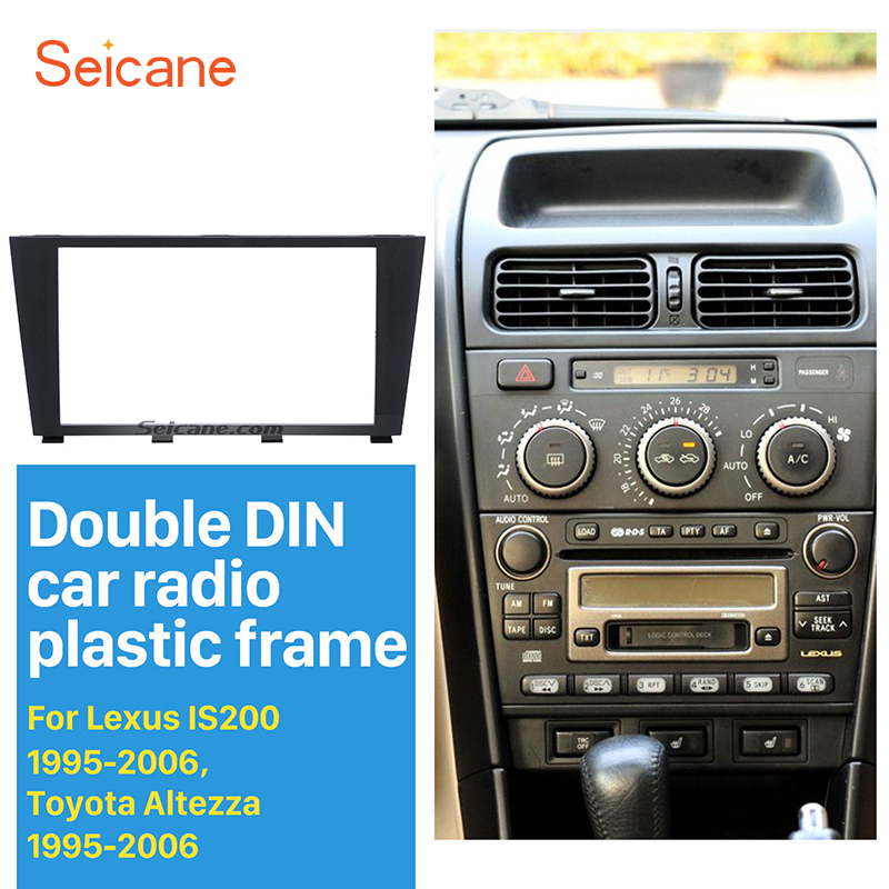 Seicane 173*98MM 2 Din Car Radio Fascia for 1995-2006 <font><b>Lexus</b></font> IS200 <font><b>IS300</b></font> Toyota <font><b>Altezza</b></font> Dashboard Panel Auto Stereo Plate Frame image