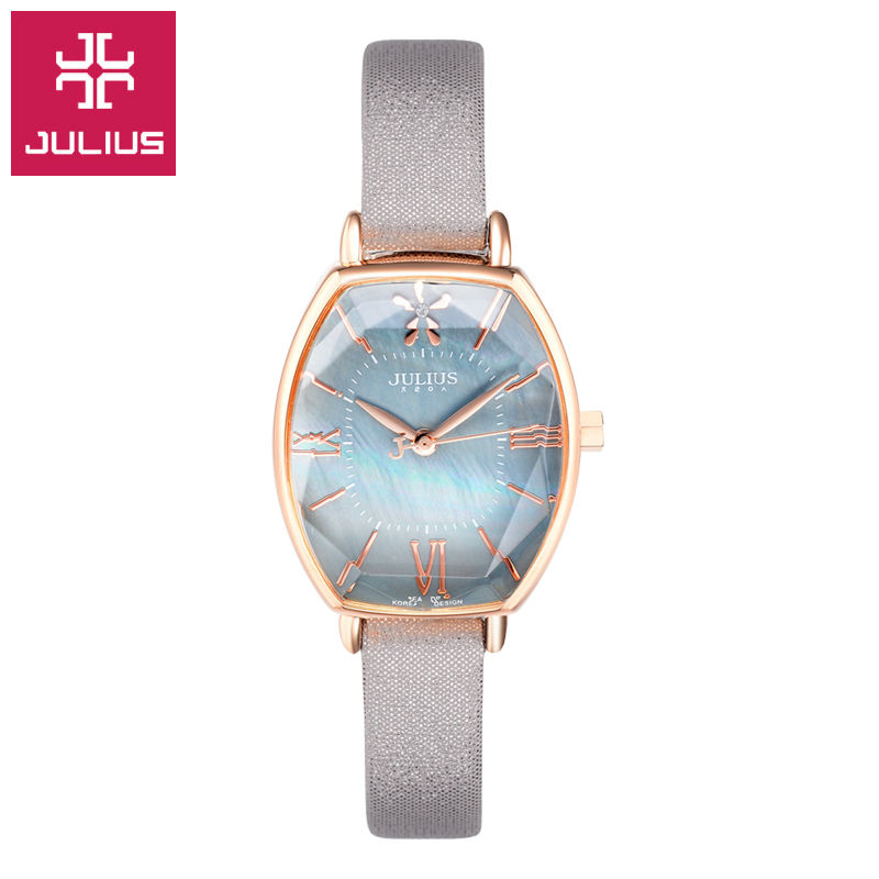 Julius Watch Kids Watch Women Watch Men Watch Couple Casual Fashion Simple Waterproof Leather clock wu s 2018 new leather belt watch men s casual waterproof simple watch machinery factory wholesale