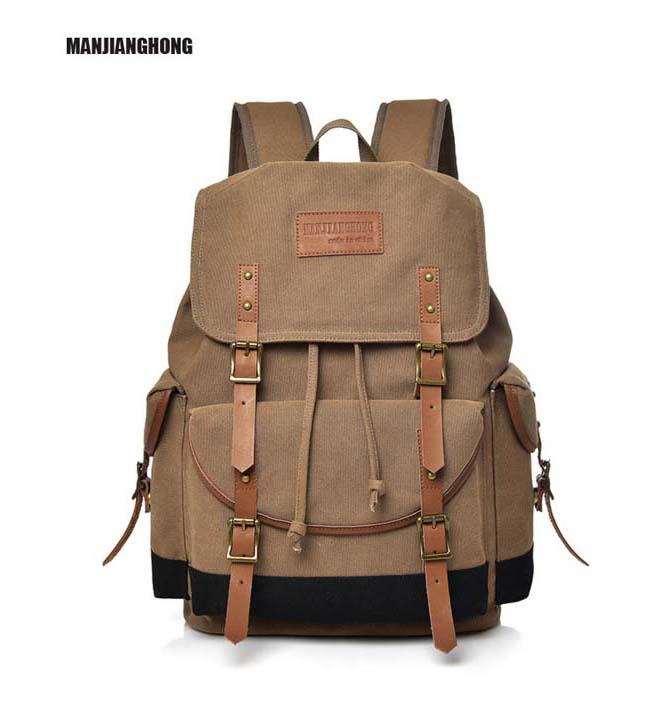2018 New Leisure Men's Backpack High quality canvas student bags Travel vintage canvas man backpack Travel Backpack Free Shiping kujing brand backpack high quality geometric lingge students backpack free shipping fashion travel leisure travel women backpack