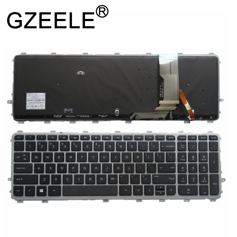 GZEELE New English Backlit Keyboard For HP ENVY 17t-j000 15-j000ea 15-j003la 6037B0082701 720244-161 17-j184na 17-j184nr
