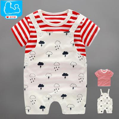 2pcs Baby Boys Girls Clothing Sets Summer Clothes For Baby Boys Short Sleeve  Newborn-baby-clothes Tshirt+strap Pants Girls