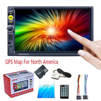 "2DIN 7"" Car MP5 Player Touch Screen Support Hands-free Call GPS Map of North America Bluetooth Car Stereo Autoradio"