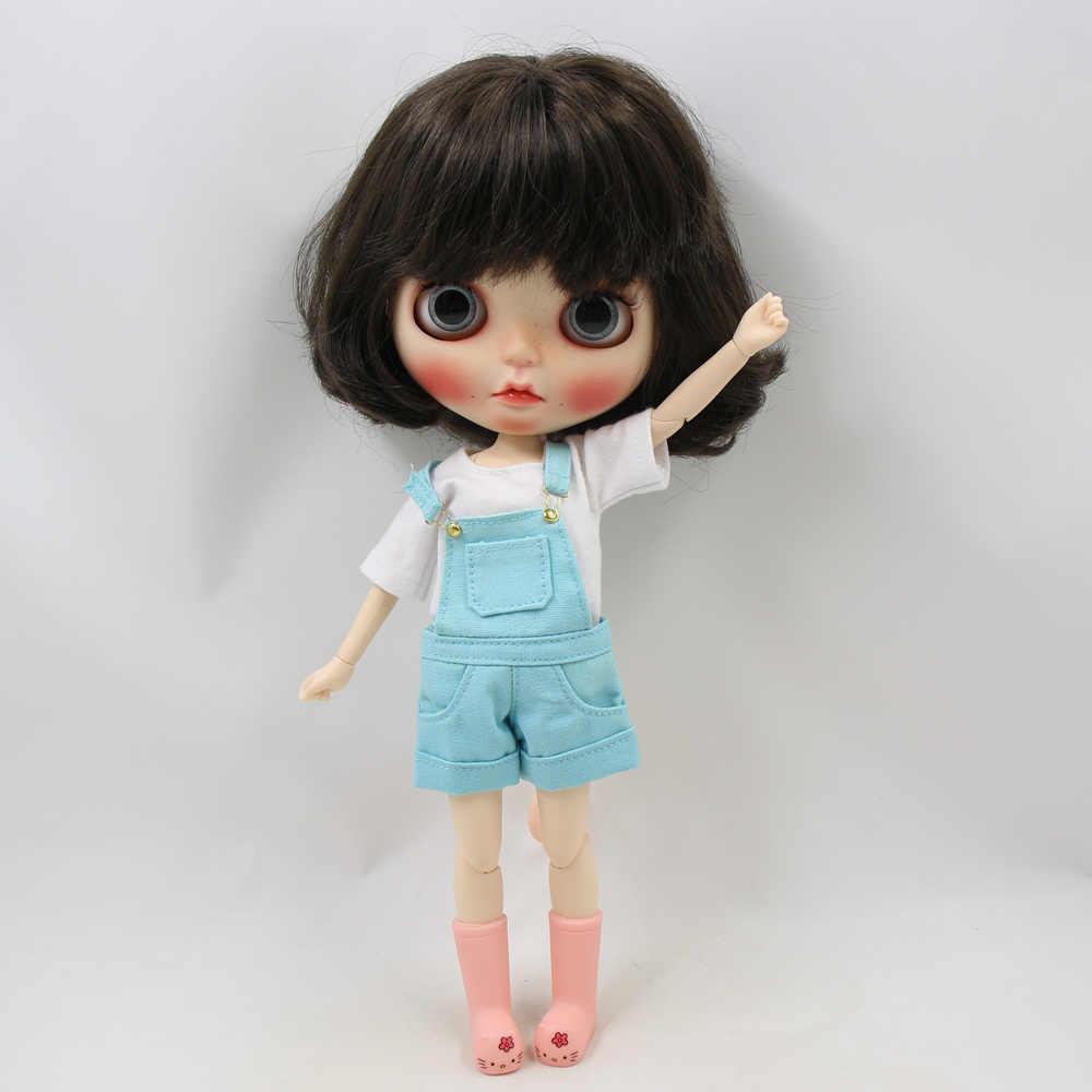 Дни Фортуны Blyth кукла животное резиновые сапоги костюм для 1/6 кукла с гибкими суставами ледяной 3 см пластиковые туфли розовый и желтый цвет
