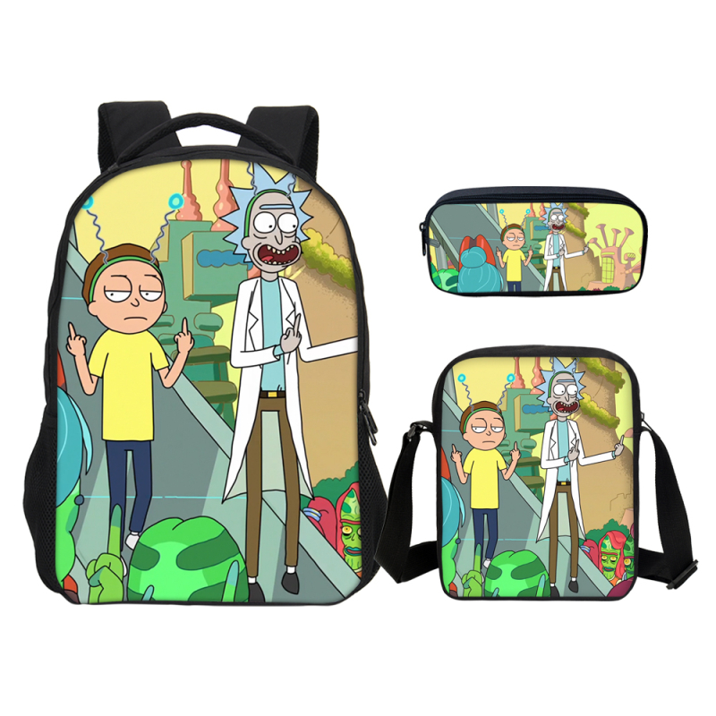 16 Inch Rick and Morty Student 3D Backpack For Teenagers Boys Girls School Bags Travel Bag Children School Laptop Backpacks16 Inch Rick and Morty Student 3D Backpack For Teenagers Boys Girls School Bags Travel Bag Children School Laptop Backpacks