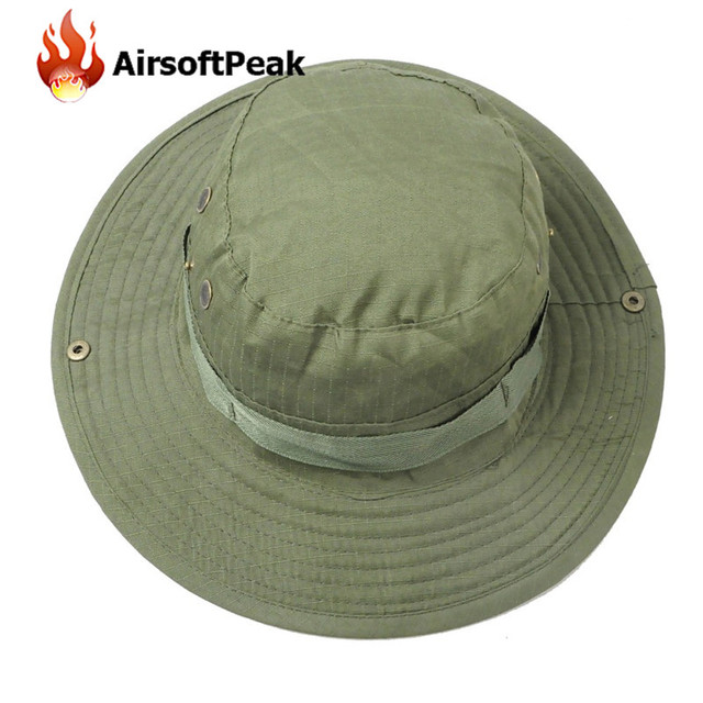 Summer Sunproof Hat Military Army Bucket Hat Fishing Hunting Hiking Bonnie  Hats Outdoor Sports Cap Casquette 974ab53f7aa
