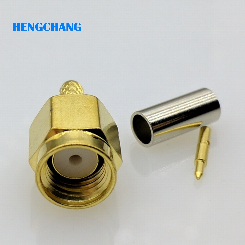 10pcs SMA male Jack Crimp RF SMA Connector for 50-1.5 For RG174 RG316 LMR100 coaxial Cable