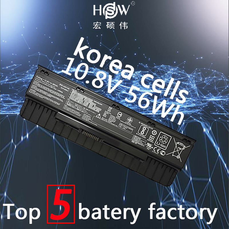 HSW battery A32N1405 10.8V 56WH For Asus G551 G551J G551JK G551JM G771 G771J G771JK N551J N551JW N551JM N551Z N551ZU bateria 10 8v 56wh original new laptop battery for asus g551 g58jk g771 g771jk a32n1405 n551