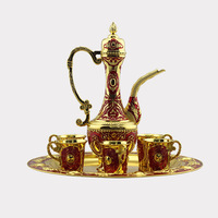 Brass pot gin six sets of high end gifts copper gilt goblet glass flagon living room decoration
