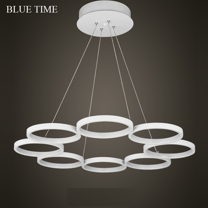 New LED Pendant Lights Modern Kitchen Acrylic Suspension Hanging Ceiling Lamp Design Dining