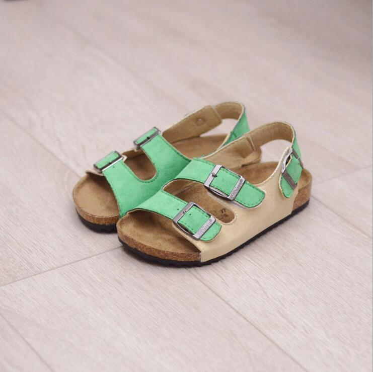New Style Small Boys Sandals Cork Sandals For Kids Girls