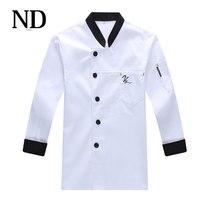 3 Colour Restaurant Cook Suit Uniform Long Sleeve Chef Coat Autumn/winter Top Chef Jacket Free Shipping