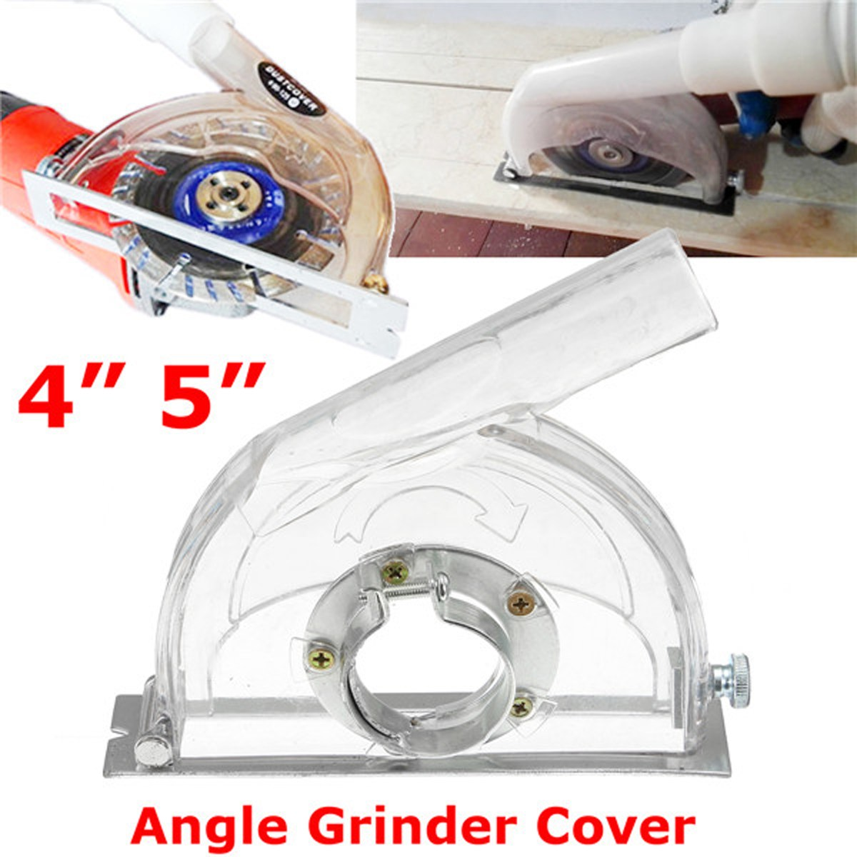 Convertible Transparent Grinding Dust Cover For 45 Angle Grinder & 3/4/5