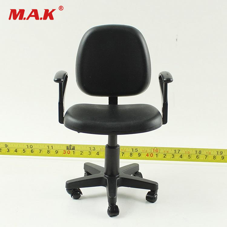 1/6 scale computer chair model toy swivel chair action figure office sence cosplay accessories black and yellow color