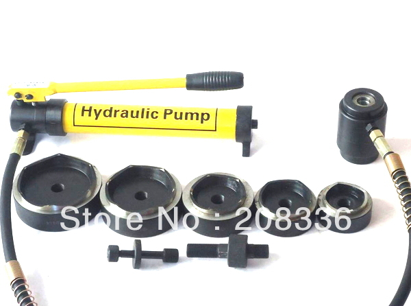 Hydraulic Knockout Tool Hydraulic Hole Macking Tool Hydraulic Punch Tool SYK-15 with the die range from 63mm to 114mm stainless steel hole punch driver ck 25 hydraulic hole making tool hydraulic hole puncher machine