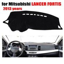 Приборной панели автомобиля охватывает мат для Mitsubishi Lancer Fortis 2013 левый руль пользовательские dashmat автомобиля Даш Pad авто аксессуары
