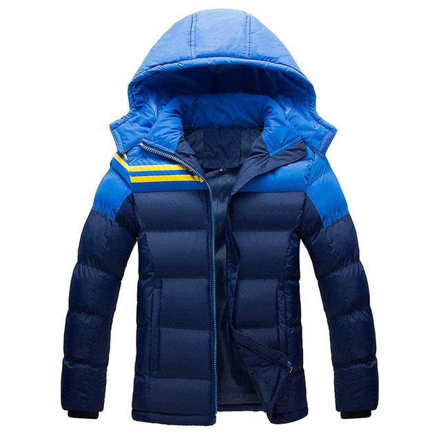 Plus Size 4XL New Fashion Long Thick Overcoat  Men Jacket Cotton Brand Hoodie Style Outerwear Parkas 2016