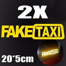 2 pçs engraçado falso táxi jdm reflexivo adesivo impermeável janela do carro pára-choques decoração adesivos