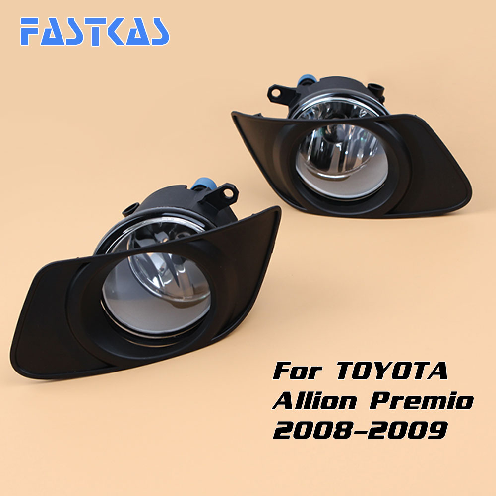 Car Fog Light Assembly for Toyota Allion Premio 2008-2009 Left & Right Fog Lamp with Switch Harness Covers Fog Lamp Kit car fog light assembly for mitsubishi pajero 2007 2008 2009 left