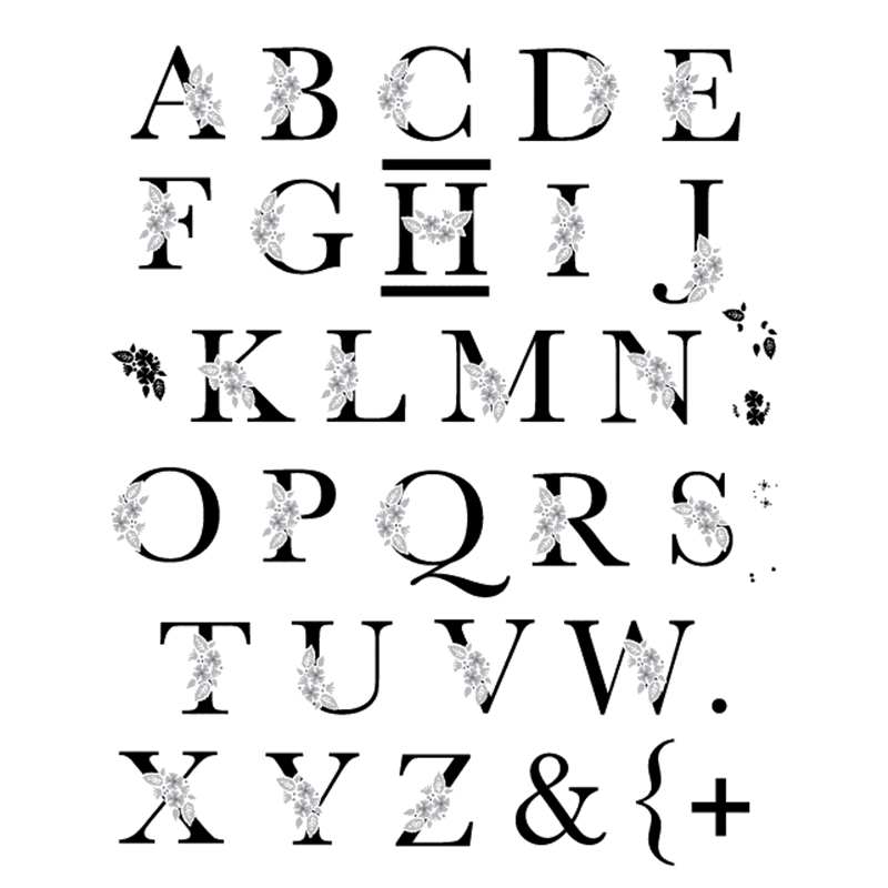 ABC Alphabet Dies Card Making Word Clear Stamps and Letter Scrapbooking Embossing Craft Stamp