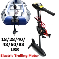 DC 12V 24V 18/28/40/48/60/88LBS Electric Trolling Motor Inflatable Boat Outboard Engine