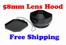 NEW 58mm square DV Lens Hood Shade thumb drive with cap for SLR/DSLR camer video square lens hoods(China)