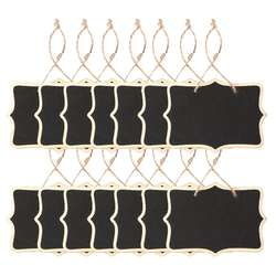 14x компактные Меловые панели знаки висящая дощечка прямоугольник доски для записей Двусторонняя свадьбы, Дети ремесла, сад, черный