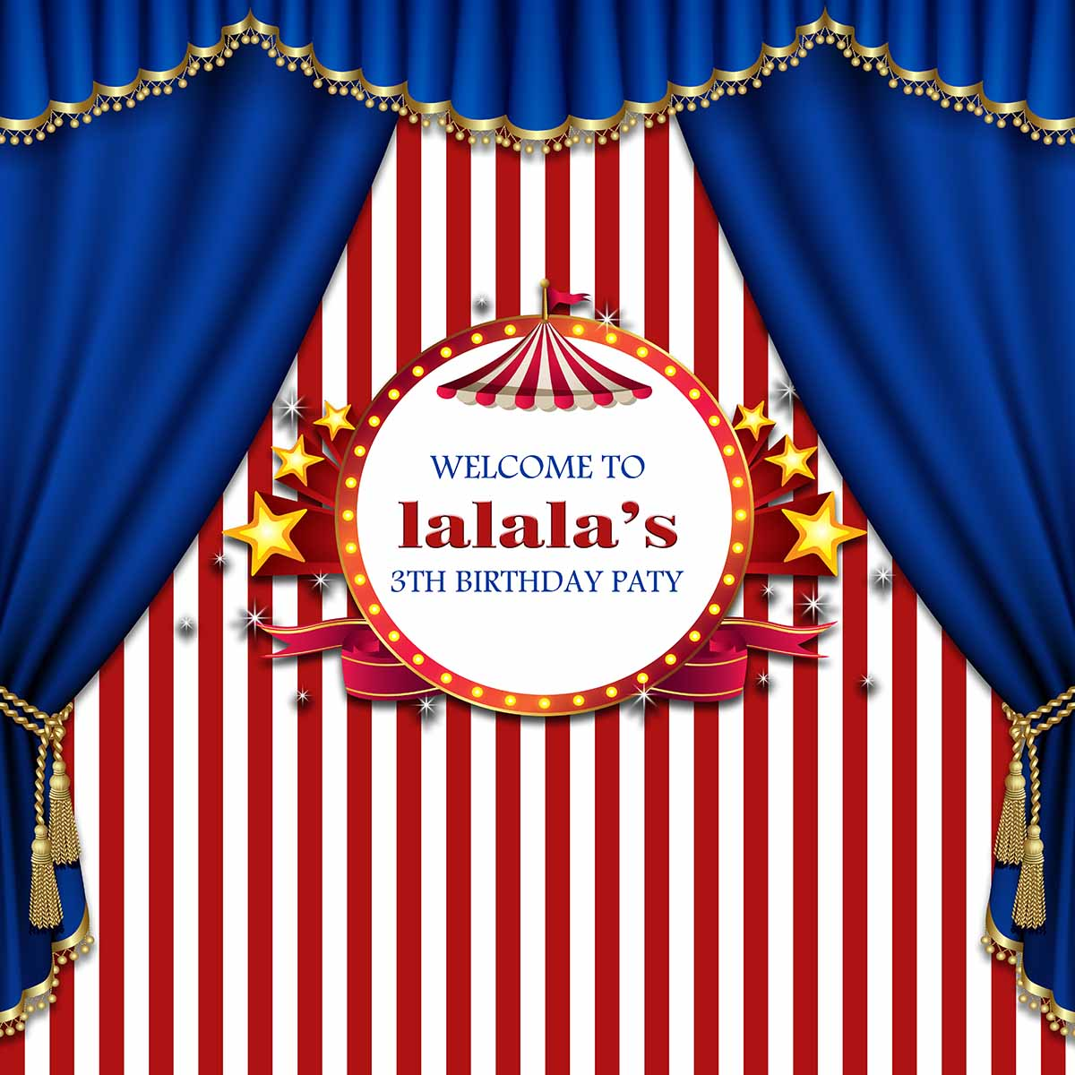 Bl blue stage curtains background - Allenjoy Photography Background Stars Birthday Party Circus Red Stripes Tent And Blue Curtin Backdrop Photography Studio In Background From Consumer