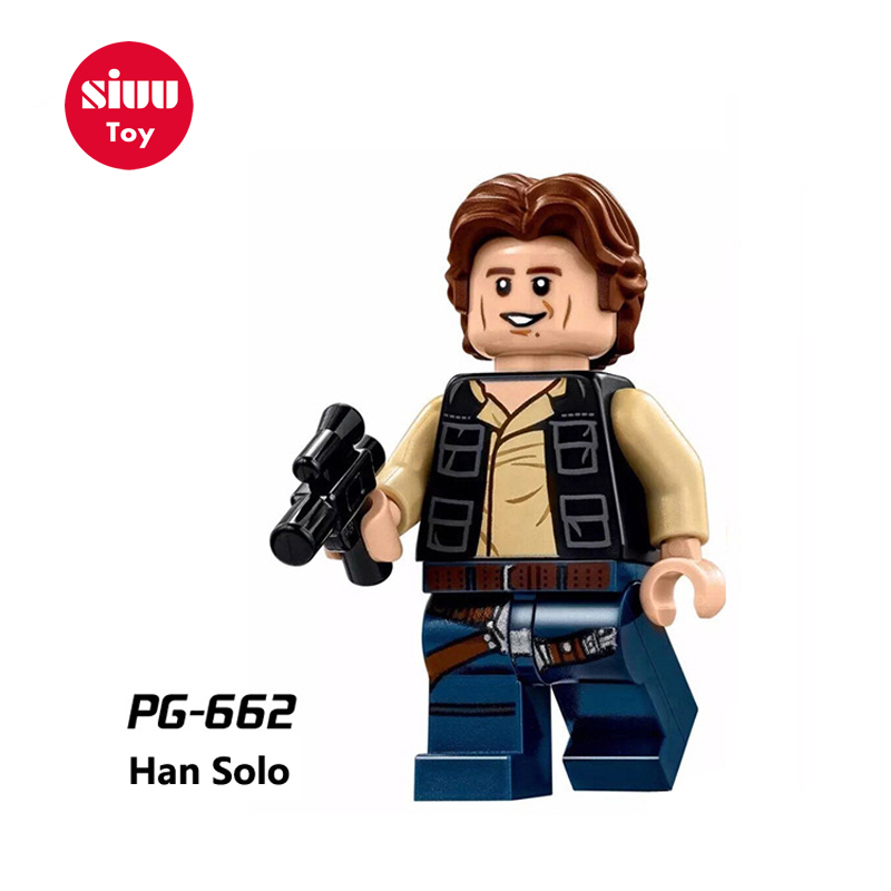 Single Sale legoing Star Wars  Building Block Han Solo Anakin Darth Vader Yoda Jar Jar Toys Compatible legoINGl starwars figures 1