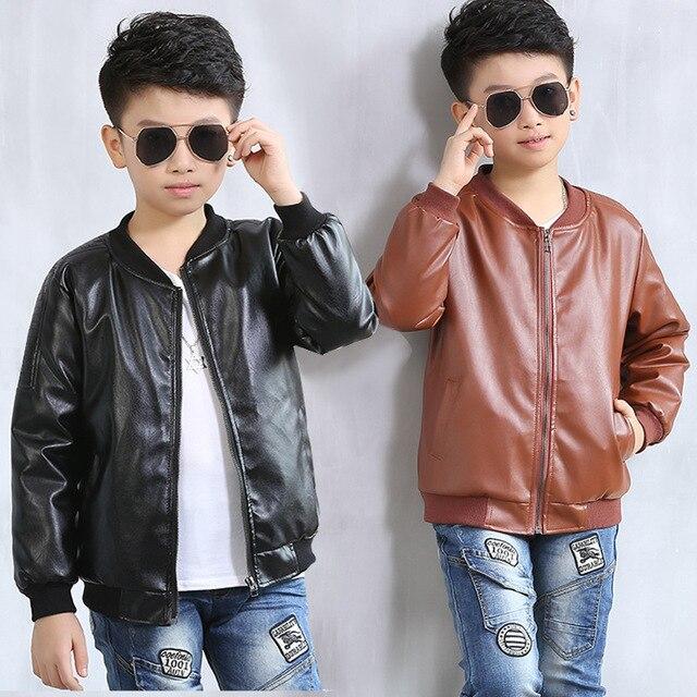 9d2495a9b830 Leather Jackets for Kids 2018 New Cartoon Boys Leather Jacket Boys ...