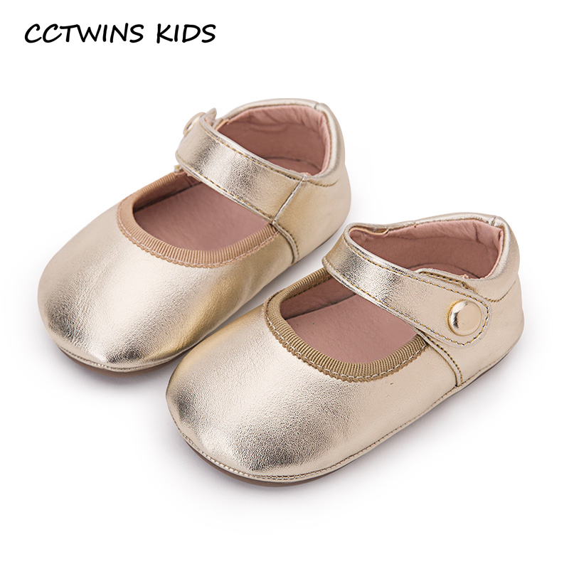 906f5434ee9a CCTWINS KIDS 2018 Autumn Toddler Pu Leather Shoe Baby Girl Fashion Princess Mary  Jane Children Gold First Walker FW118