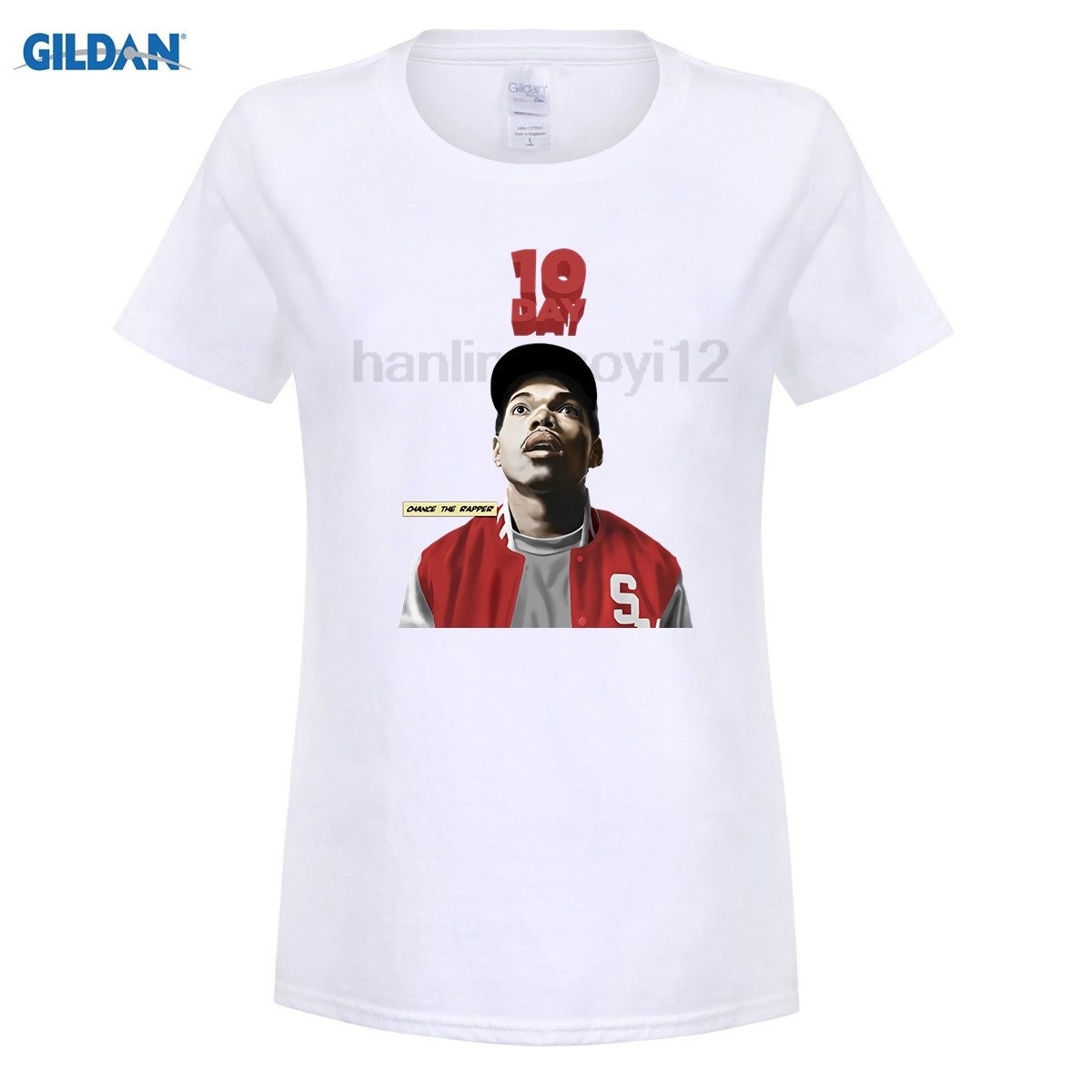 GILDAN Casual T Shirts Chance The Rapper Brandon Breaux O Neck Short Tee Shirt Pop Teenage Create T-Shirt for women