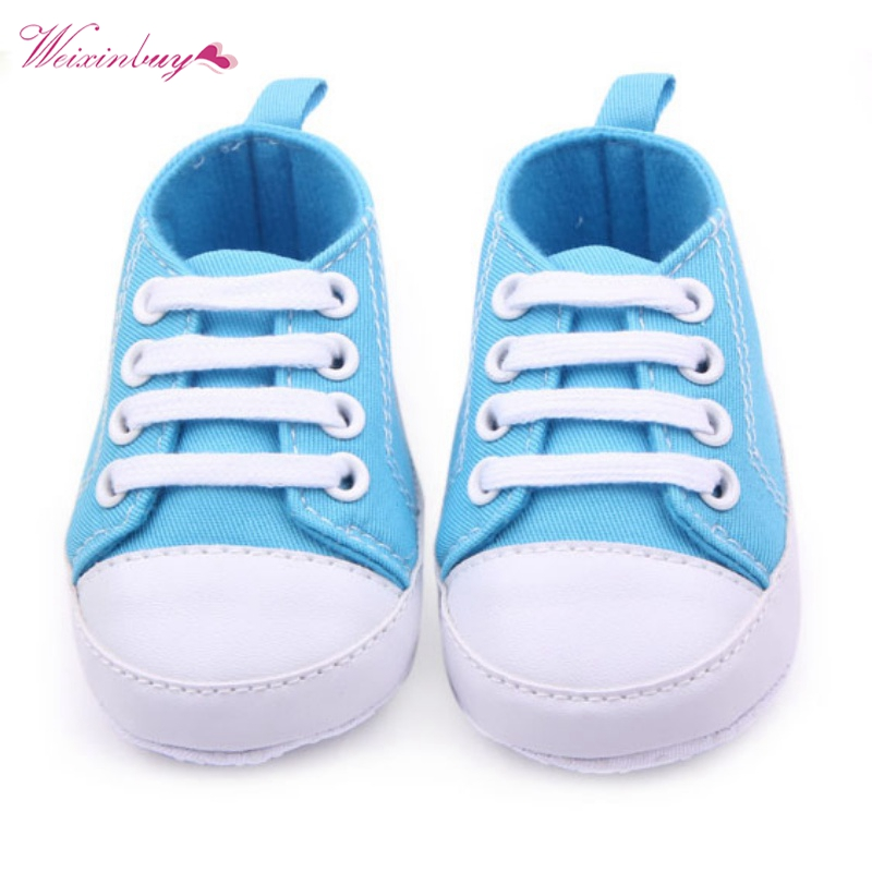 Baby Canvas Classic Sports Sneakers Newborn Baby Boys Girls First Walkers Shoes Infant Toddler Soft Sole Anti-slip Baby Shoes