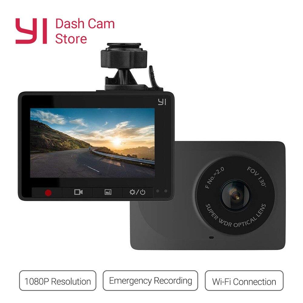 YI Compact Dash Cam 1080 p Full HD Tableau De Bord de Voiture Caméra 2.7 pouces LCD Écran 130 WDR Lentille G- capteur Nuit Vision Boucle Enregistreur