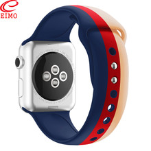 EIMO Sport Strap for Apple Watch band 42mm 38mm correa apple watch 4 iWatch 40mm 44mm Silicone bracelet printing watchband