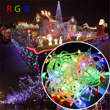 50M 400 LEDs AC220V EU Plug led string light colorful holiday led lighting Christmas/Wedding/Party/Home Decoration Lights 50m 400 leds ac220v waterproof outdoor colorful led xmas christmas light for wedding christmas party holiday