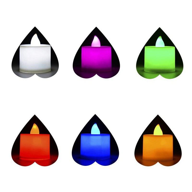 6pc batareya ilə işləyən LED şam rəngli lampa simulyasiya rəng - Ev dekoru - Fotoqrafiya 2