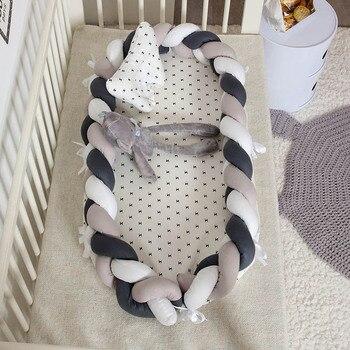 grey cotton braided baby nest