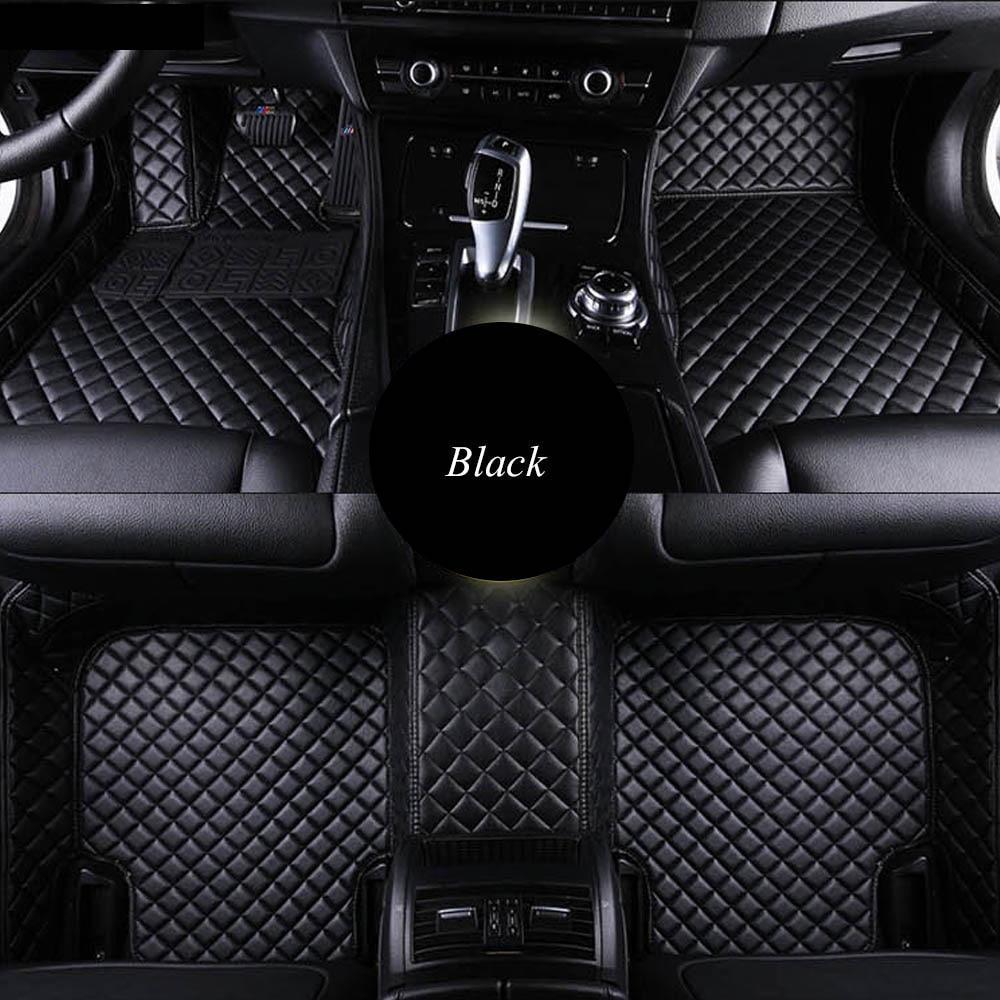 KIA SPORTAGE 2010 ONWARDS TAILORED BLACK CAR MATS WITH ORANGE TRIM
