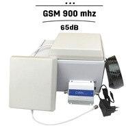 Yeni!!! GSM 900 mhz Cep Telefonu Sinyal Booster Hücresel GSM 65dB Sinyal Tekrarlayıcı Cep Telefonu Amplifikatör Anten Seti Kapak 500 M²