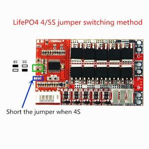 Image 4 - 3S 4S 5S 50A BMS לוח/55A 3.7V הגנת סוללת ליתיום לוח/3.2V ברזל פוספט/LiFePO4 סוללה BMS לוח עם איזון