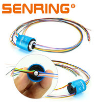 Slip Ring Rotor Hole Bore 8mm OD Size 35mm Through Hole Slipring for 6 12 Wires 5A Current