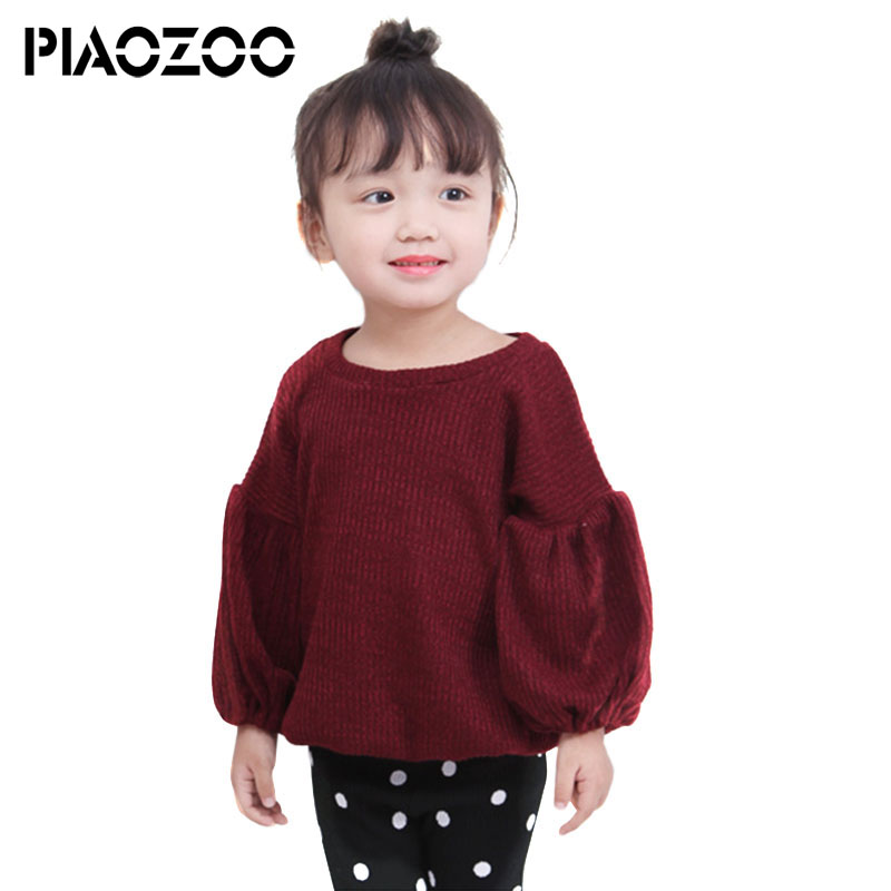 2018 Autumn Girls cotton t-shirt cute toddler girl clothes o neck lantern sleeve Tops Tees ruffles tee fashion trend clothingP30